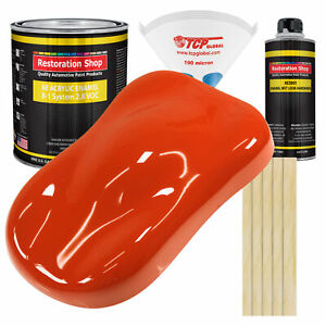 Tractor Red Gallon Kit Single Stage Acrylic Enamel Car Auto Paint Kit