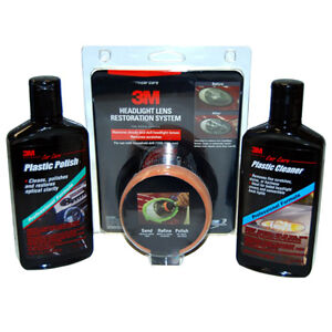 3m Complete Headlight Lens Restoration System Kit With Cleaner Polish
