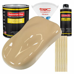 Shoreline Beige Gallon Kit Single Stage Acrylic Enamel Car Auto Paint Kit