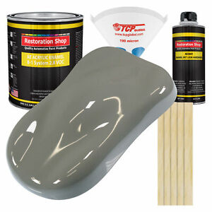 Dove Gray Gallon Kit Single Stage Acrylic Enamel Car Auto Paint Kit