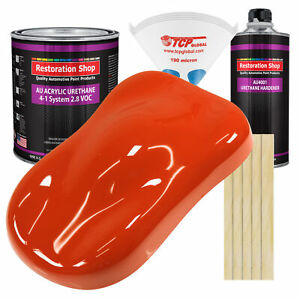 Tractor Red Gallon Kit Single Stage Acrylic Urethane Car Auto Paint Kit