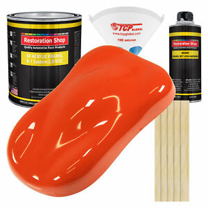 Charger Orange Gallon Kit Single Stage Acrylic Enamel Car Auto Paint Kit