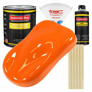 Omaha Orange Gallon Kit Single Stage Acrylic Enamel Car Auto Paint Kit