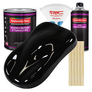 Super Gloss Jet Black Gallon Kit Single Stage Acrylic Urethane Auto Paint Kit
