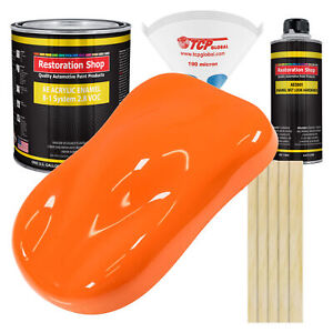 California Orange Gallon Kit Single Stage Acrylic Enamel Car Auto Paint Kit