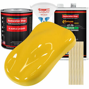 Indy Yellow Gallon Kit Single Stage Acrylic Lacquer Car Auto Paint Kit