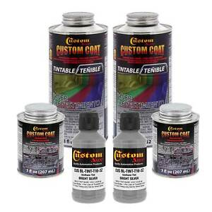 Bed Liner Custom Coat Bright Silver 2 L Urethane Spray On Truck Kit