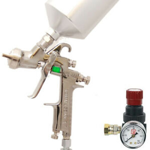 Iwata 5553 Lph400 lv Hvlp Spray Gun 1 4mm Auto Car Paint clear Free Regulator