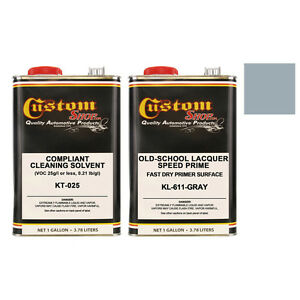 Gray Lacquer Primer Surfacer Old School Speed Prime Kit Auto Paint Gallon