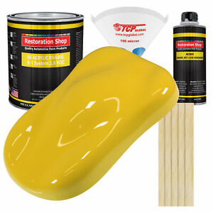Daytona Yellow Gallon Kit Single Stage Acrylic Enamel Car Auto Paint Kit