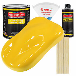 Sunshine Yellow Gallon Kit Single Stage Acrylic Enamel Car Auto Body Paint Kit