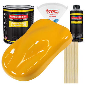 Citrus Yellow Gallon Kit Single Stage Acrylic Enamel Car Auto Body Paint Kit