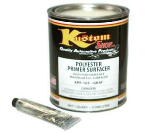 Quart Gray Polyester Primer Filler Surfacer Auto Paint