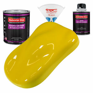 Electric Yellow Quart Kit Single Stage Acrylic Urethane Car Auto Body Paint Kit