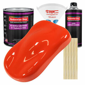 Hemi Orange Gallon Kit Single Stage Acrylic Urethane Car Auto Body Paint Kit