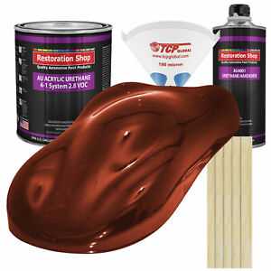 Firethorn Red Pearl Gallon Kit Single Stage Acrylic Urethane Car Auto Paint Kit