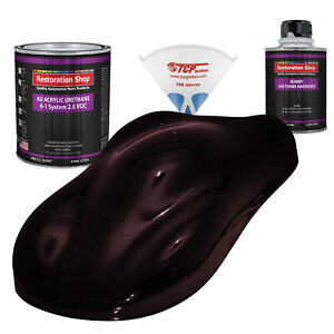 Molten Red Metallic Quart Kit Single Stage Acrylic Urethane Car Auto Paint Kit