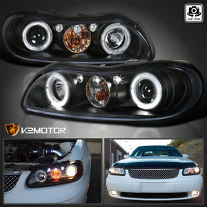 1997 2003 Chevy Malibu Halo Led Projector Headlights Set Black Kit