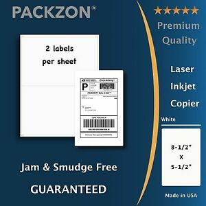200 Shipping Labels 8 5x5 5 Rounded Corner Self Adhesive 2 Per Sheet Packzon
