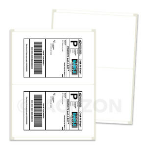 400 Shipping Labels 8 5x5 5 Rounded Corner Self Adhesive 2 Per Sheet Packzon
