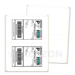 2000 Shipping Labels 8 5x5 5 Rounded Corner Self Adhesive 2 Per Sheet Packzon