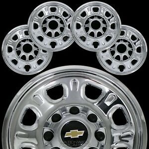 4 Chevy Silverado 2500 3500 Hd 18 8 Lug Chrome Wheel Skins Rim Covers Hub Caps