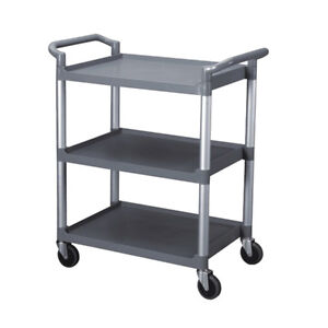 Thunder Group Janitorial 33 1 2 X 16 1 8 X 37 3 tier Bus Cart Grey Kd