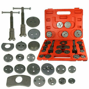 Universal 21 Pcs New Brake Caliper Piston Disc Rewind Back Tool Set Pads Pro