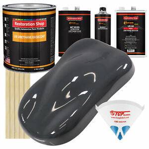 Machinery Gray Gallon Urethane Basecoat Clearcoat Car Paint Fast Kit