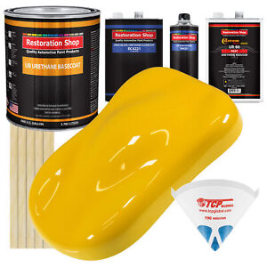 Viper Yellow Gallon Urethane Basecoat Clearcoat Car Auto Paint Fast Kit