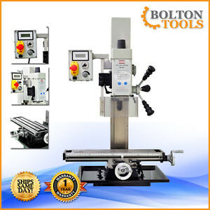 Bolton Tools 20 X 5 1 2 Vertical Bench Top Milling Machine Drill Free Shipping