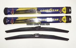 1982 1988 Ford Exp Goodyear Hybrid Style Wiper Blade Set Of 2