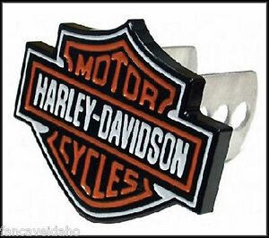 Harley Davidson Shield 1 1 4 2 Full Color Metal Hitch Plug Receiver Cover