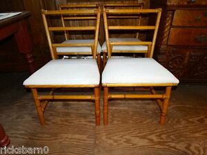 Set Of 4 Heywood Wakefield Bentwood Chairs