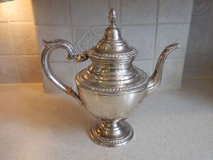 International Silver English Gadroon Sterling Coffee Pot 11 1 2 Ex Condition
