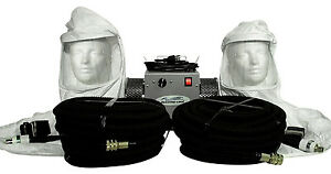 2 man Tyvek Hood Supplied Air Respirator W 50 Air Hoses