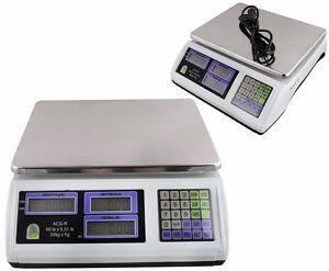 2 X Digital Weight Scale 60lb Computing Food Meat Scale Produce Deli Industrial