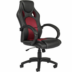 Bcp Executive Racing Style Office Chair W Tilt Height Adjustment
