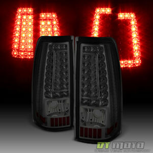 Smoke 1999 2002 Chevy Silverado Gmc Sierra 1500 2500 3500 Led Tail Lights Lamps