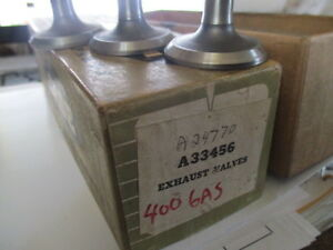 A33456 Exhaust Valves 400 Case Gas Tractor Nos New Old Stock
