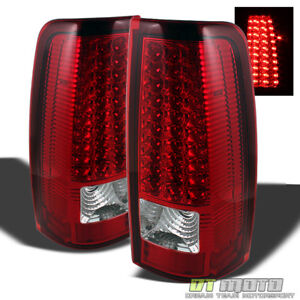 1999 2006 Gmc Sierra 1500 2500 3500 Red Clear Led Tail Lights Lamps Left right