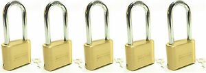 Lock Brass Master Combination 175lh lot Of 5 Long Shackle Resettable Secure