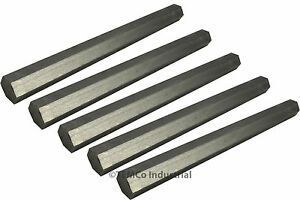 5 Lot 7 8 Inch 9 Long 304 Stainless Steel Hex Bar Lathe Ss Rod Stock 875