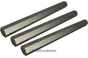 3x 7 8 Inch 14 Long 304 Stainless Steel Hex Bar Lathe Ss Rod Stock 875