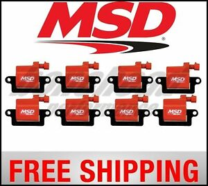 Msd Ignition Coils Gm L series Truck 99 09 8 pack