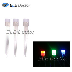 500pcs 2x5x7mm Diffused Rgb Light Common Anode Rectangle Square Led Diodes