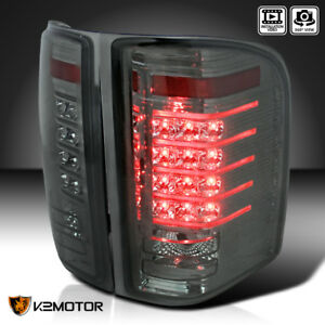 Chevy 2007 2014 Silverado 1500 2500hd 3500hd Smoke Led Rear Tail Brake Lights