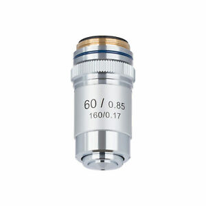 Amscope 60x Achromatic Microscope Objective For Compound Microscope
