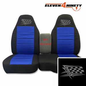91 15 Ford Ranger Blk Dk Blue 60 40 Seat Covers W Flag Logo Choose From 9 Colors
