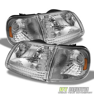 4pc 1997 2003 Ford F150 Expedition Headlights corner Signal Lamps Left right